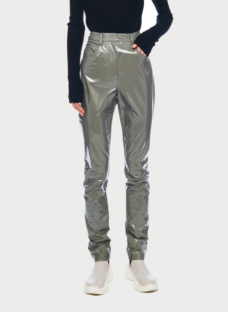 Tech Patent Skinny Pant Cement-9