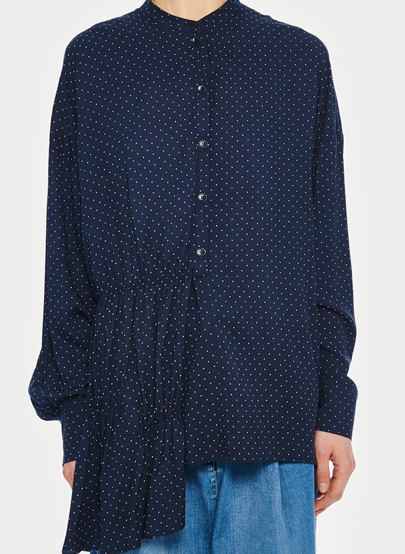 Pindot Tunic Top Navy Multi-6