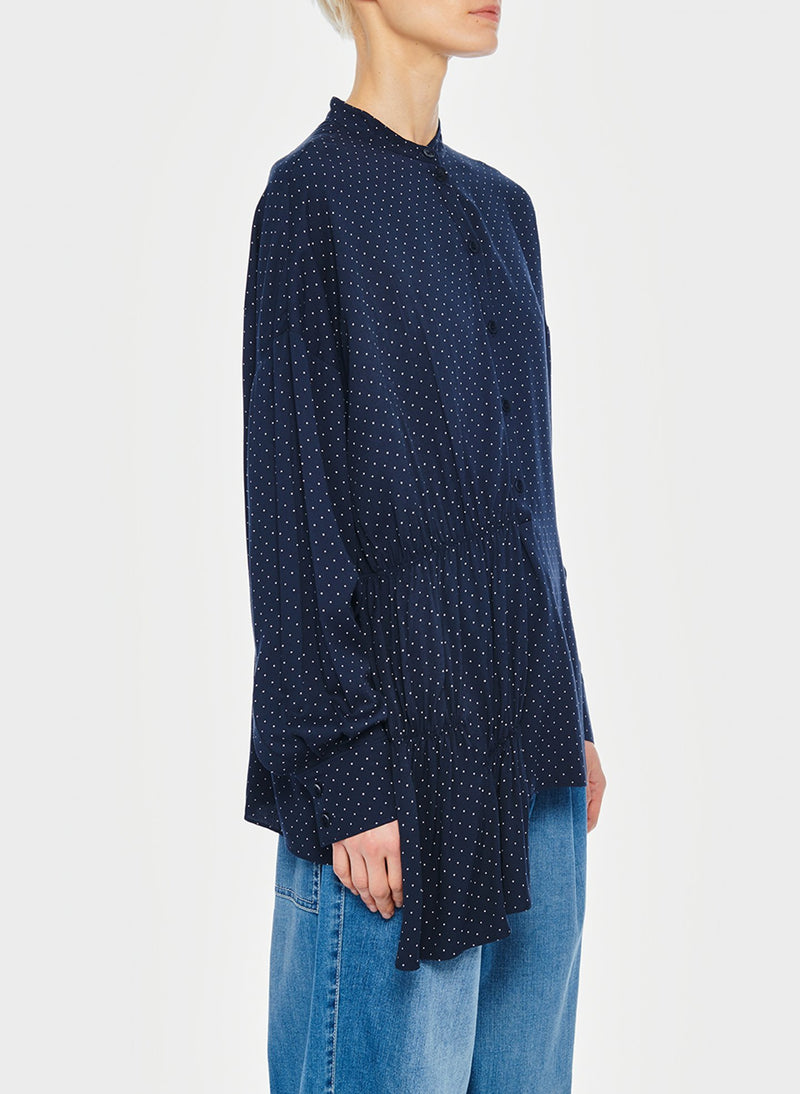 Pindot Tunic Top Navy Multi-7