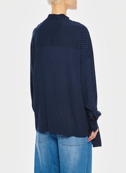 Pindot Tunic Top Navy Multi-8