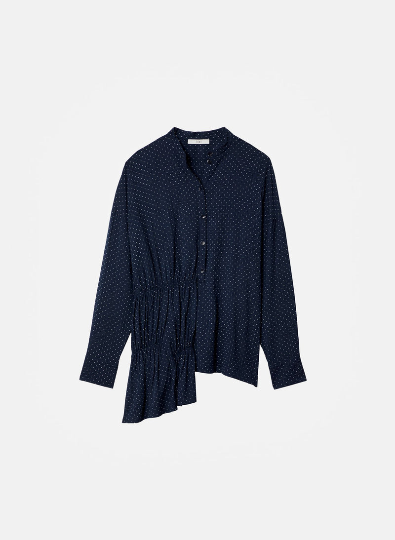 Pindot Tunic Top Navy Multi-10