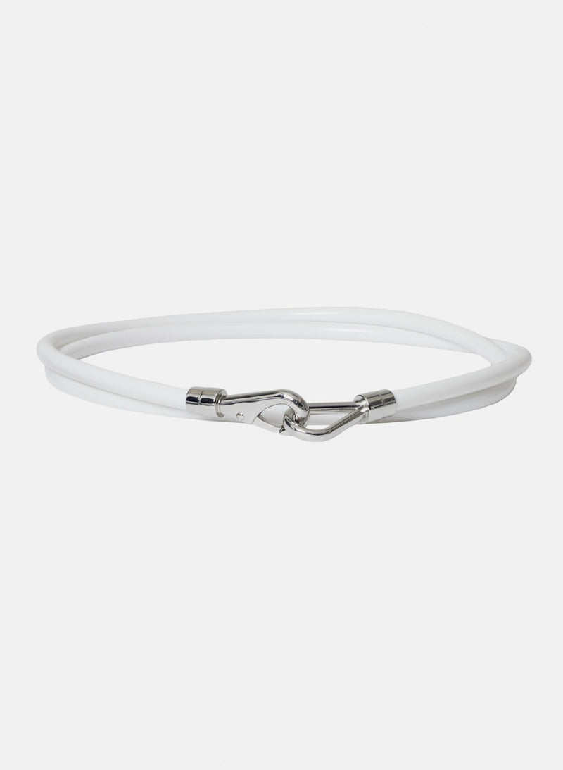 Rubber Tube Belt White-16