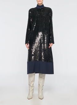 Sequin Dress Navy-3