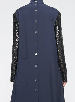 Sequin Dress Navy-7