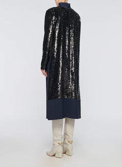 Sequin Dress Navy-5