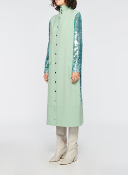 Sequin Dress Celadon-3