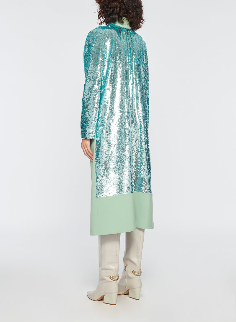 Sequin Dress Celadon-4