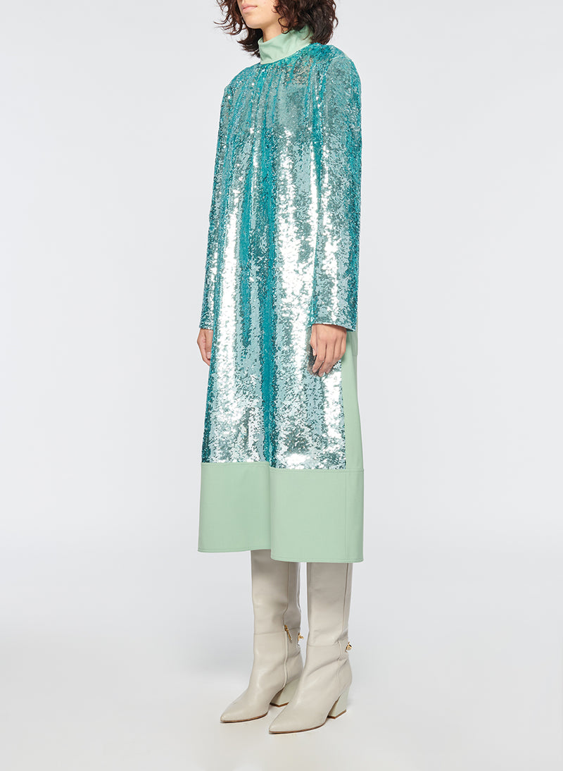 Sequin Dress Celadon-2