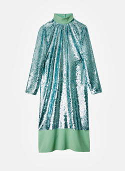 Sequin Dress Celadon-7