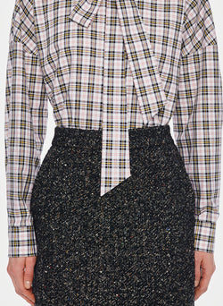 Recycled Tweed High Waisted Mini Skirt Black Multi-3