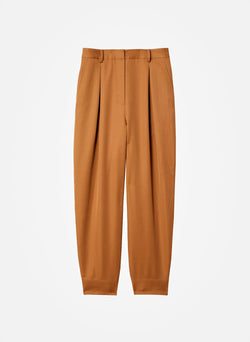 Recycled Techy Twill Pleated Pant Camel-6