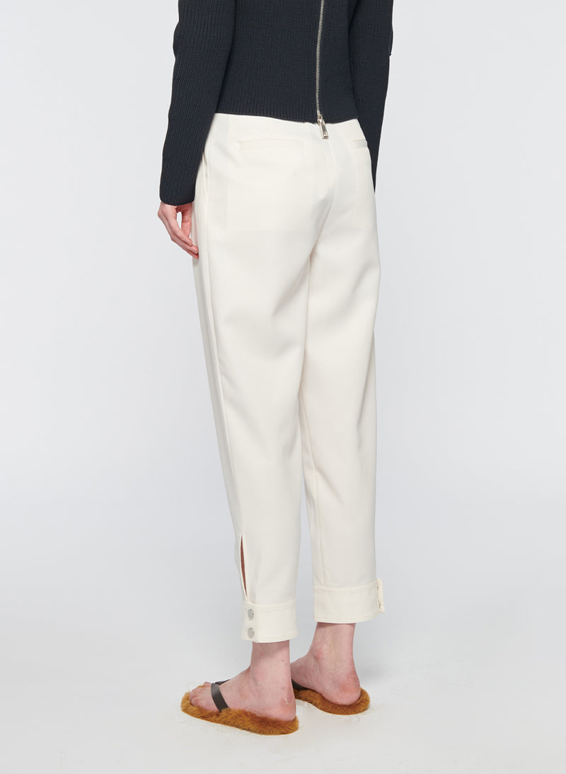 Recycled Techy Twill Pleated Pant Ivory-11
