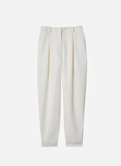 Recycled Techy Twill Pleated Pant Ivory-15