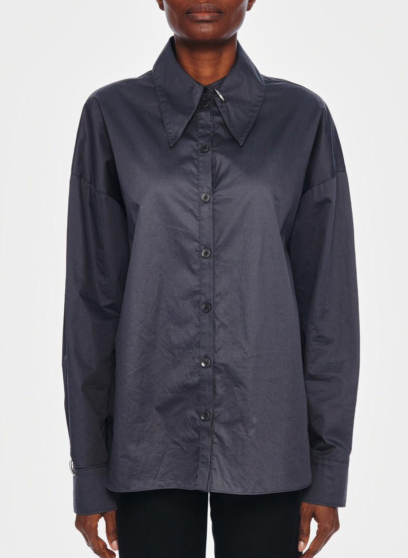 Tech Poplin Shirt Graphite-13