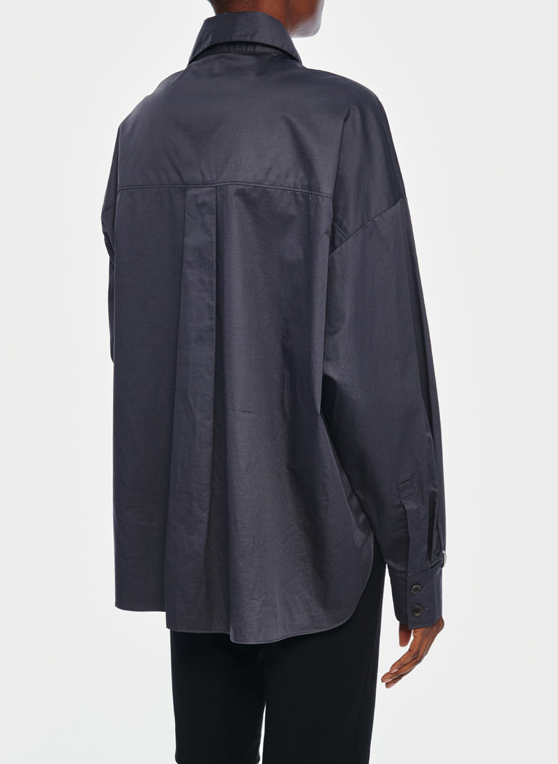 Tech Poplin Shirt Graphite-15