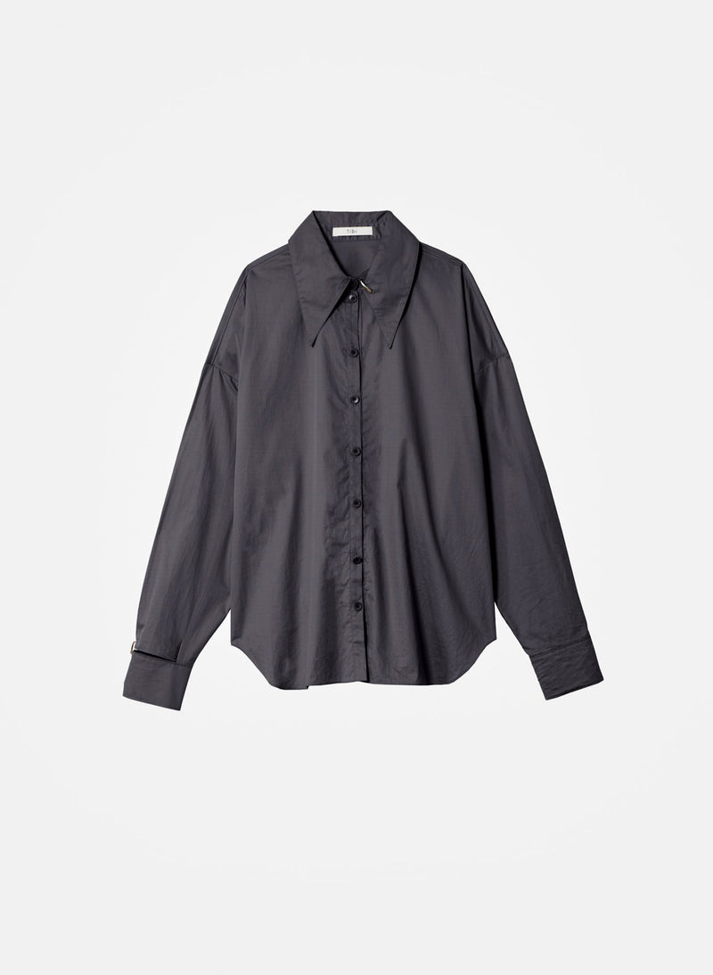 Tech Poplin Shirt Graphite-17
