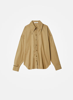 Tech Poplin Shirt Oatmeal-6