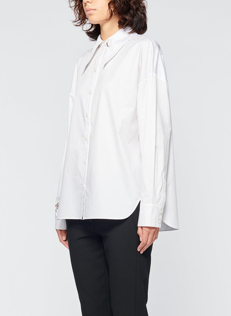 Tech Poplin Shirt White-8