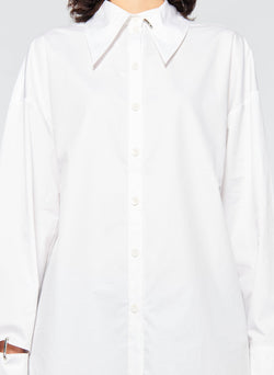 Tech Poplin Shirt White-11