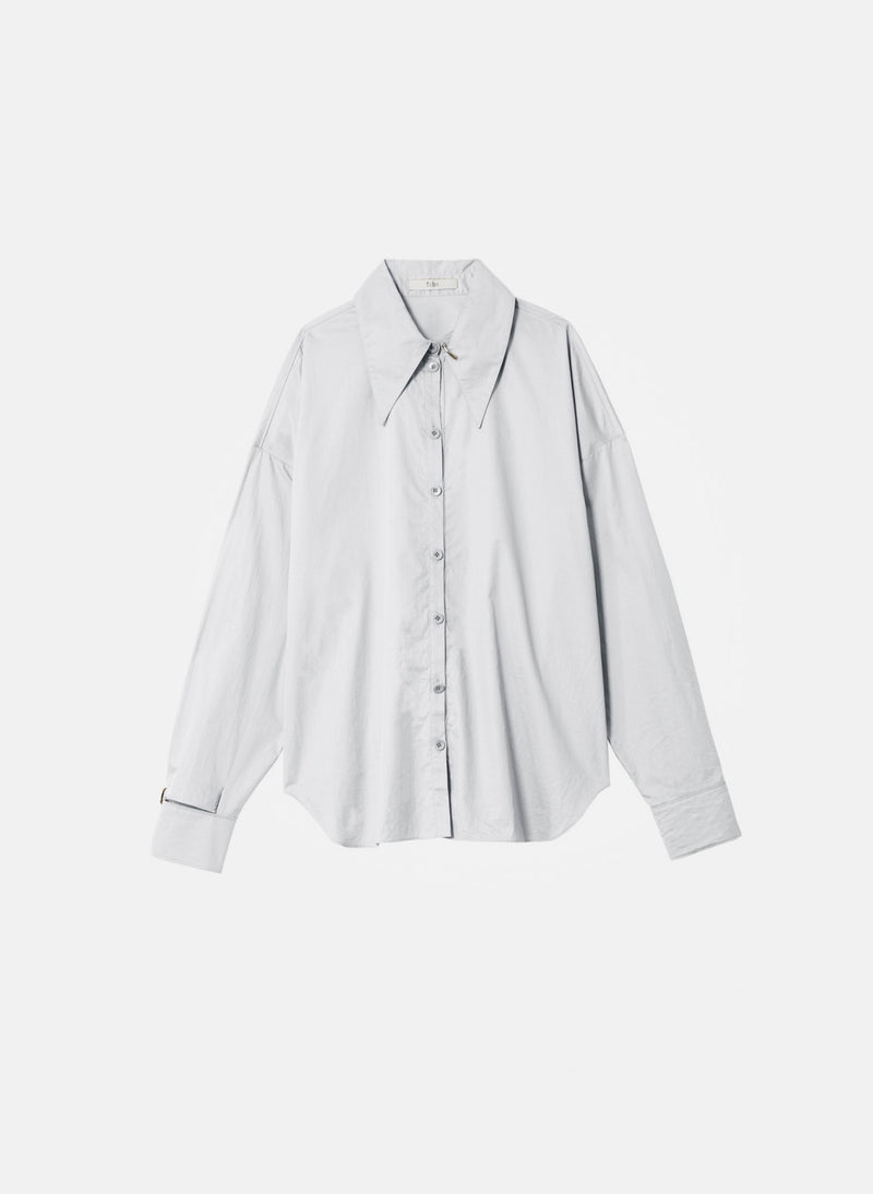 Tech Poplin Shirt White-12
