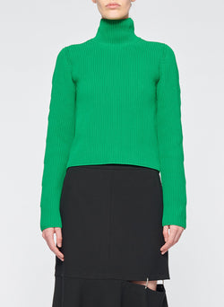 Tech Poly Two Way Cropped Cardigan Kelly Green-1
