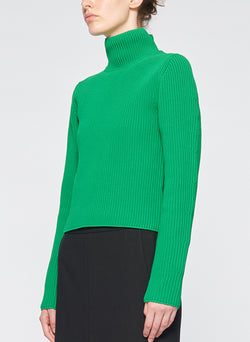 Tech Poly Two Way Cropped Cardigan Kelly Green-2