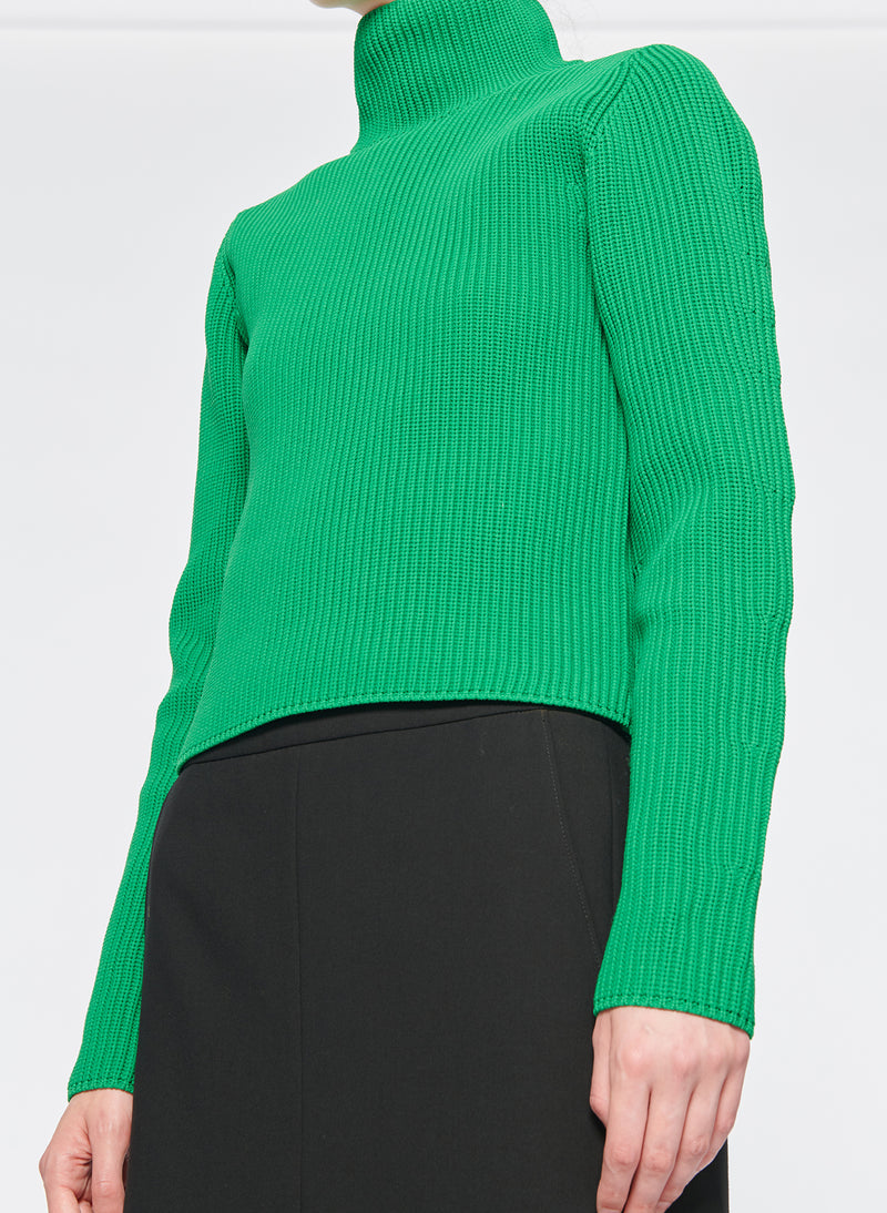 Tech Poly Two Way Cropped Cardigan Kelly Green-4