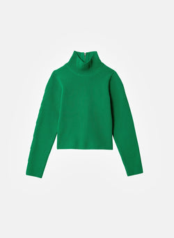 Tech Poly Two Way Cropped Cardigan Kelly Green-8