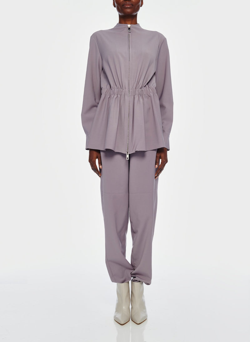 Double Layer Plainweave Jumpsuit Lavender Grey-10