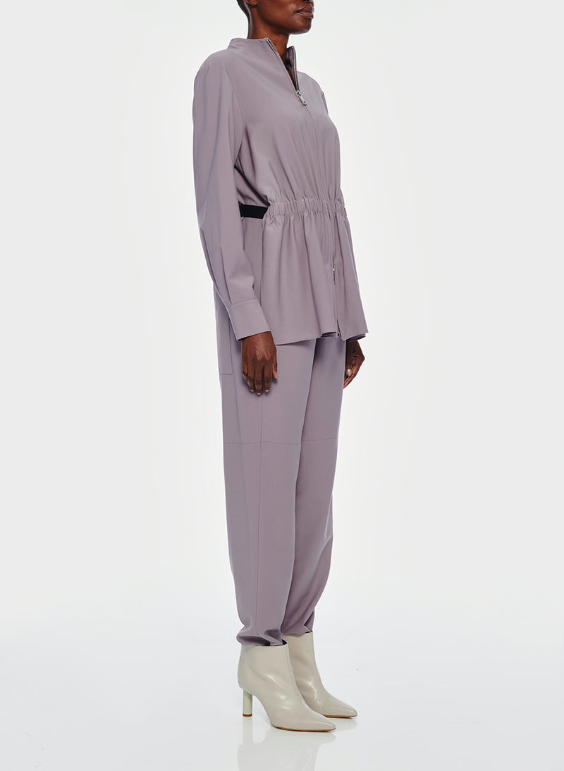 Double Layer Plainweave Jumpsuit Lavender Grey-11