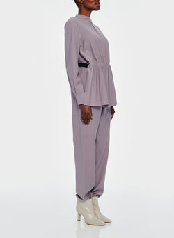 Double Layer Plainweave Jumpsuit Lavender Grey-4