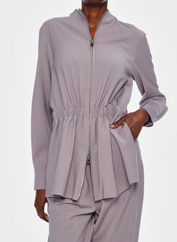Double Layer Plainweave Jumpsuit Lavender Grey-15