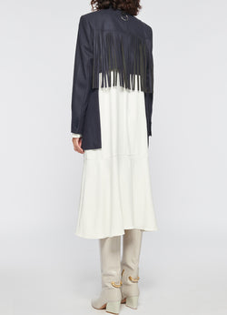 Cut Out Fringe Blazer Cut Out Fringe Blazer