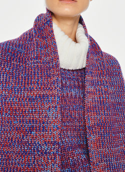 Tweedy Wool Sweater Scarf Blue Multi-6