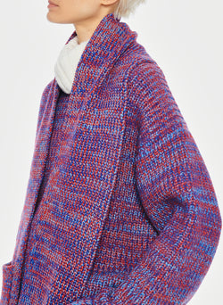 Tweedy Wool Sweater Scarf Blue Multi-8
