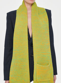 Tweedy Wool Sweater Scarf Green Multi-13