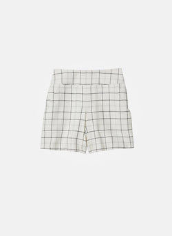 Windowpane Cargo Skort Ivory Multi-7