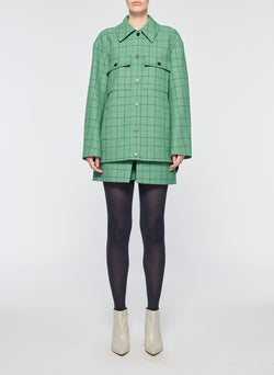 Windowpane Cargo Skort Celadon Multi-9