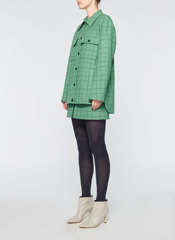 Windowpane Cargo Skort Celadon Multi-10