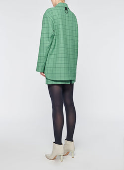Windowpane Cargo Skort Celadon Multi-11