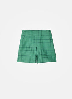 Windowpane Cargo Skort Celadon Multi-14