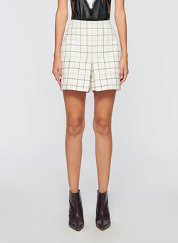 Windowpane Cargo Skort Ivory Multi-1