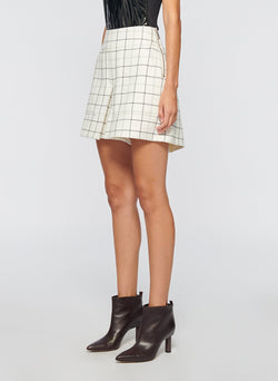 Windowpane Cargo Skort Ivory Multi-2