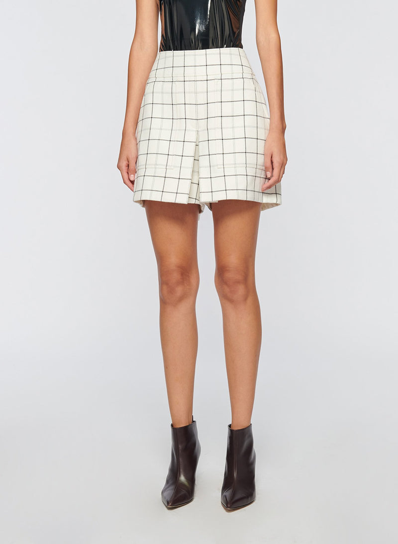Windowpane Cargo Skort Ivory Multi-3
