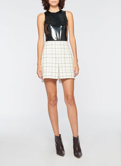 Windowpane Cargo Skort Ivory Multi-4