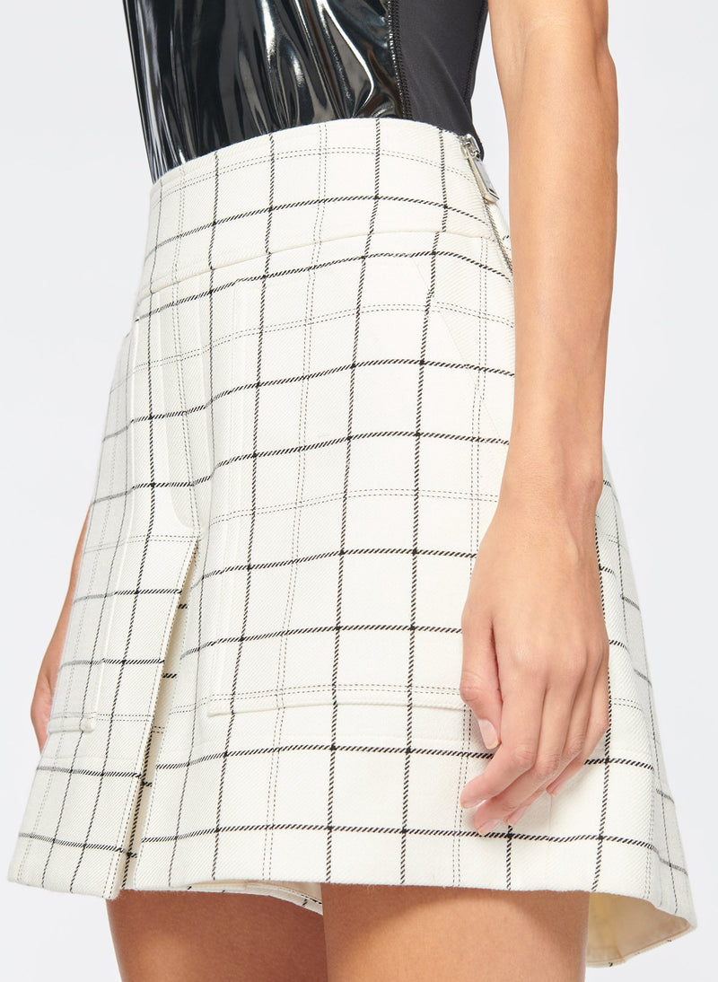 Windowpane Cargo Skort Ivory Multi-5