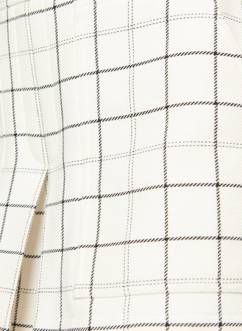 Windowpane Cargo Skort Ivory Multi-6