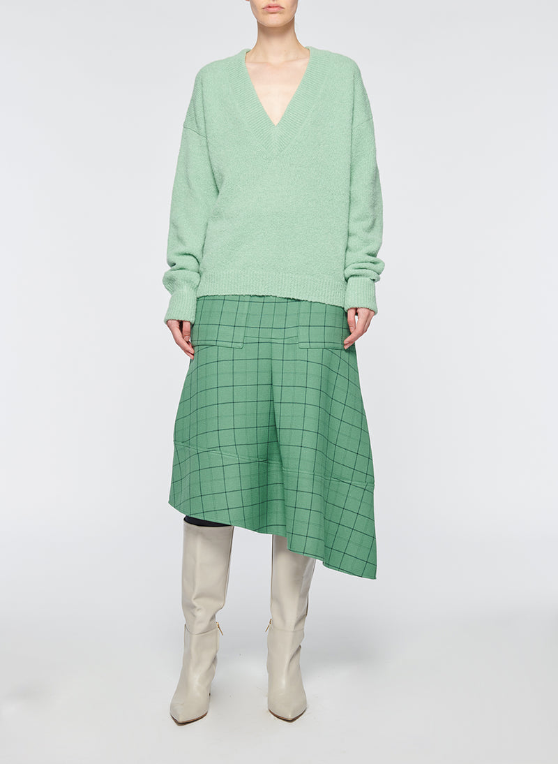 Windowpane Cargo Skirt Celadon Multi-4