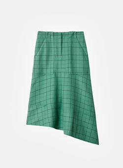 Windowpane Cargo Skirt Celadon Multi-7