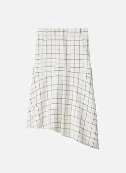 Windowpane Cargo Skirt Ivory Multi-15